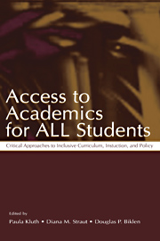 Book cover for Paula Kluth's Access to Academics for ALL Students